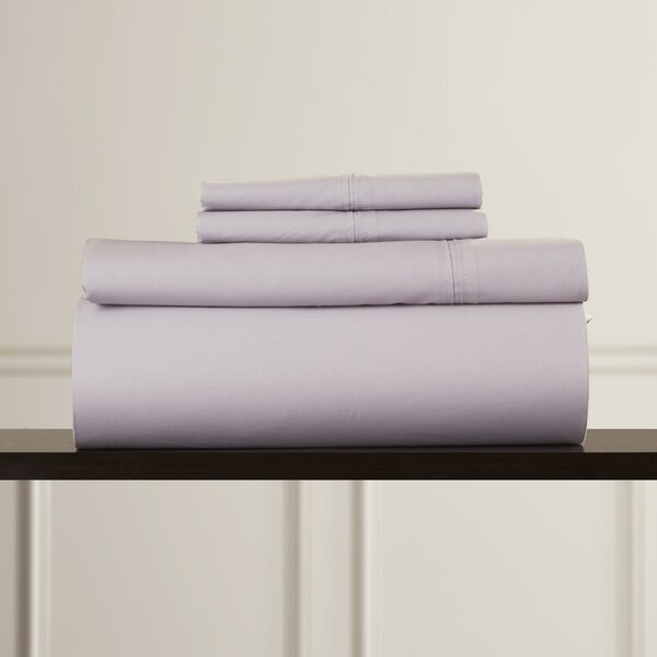 Harristown 350 Thread Count Egyptian 100% Cotton Extra Deep Pocket Sheet Set by Charlton Home